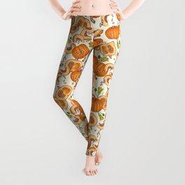 lucky autumn pumpkin pattern Leggings