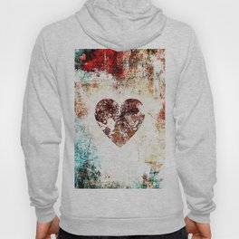 Vintage Heart Abstract Design Hoody