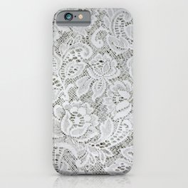 Classic Floral White Lace iPhone Case