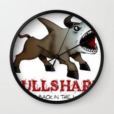 Bullshark Color Bull Shark Jaws by RonkyTonk Wall Clock