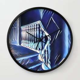 Eerie Paranormal Staircase Wall Clock