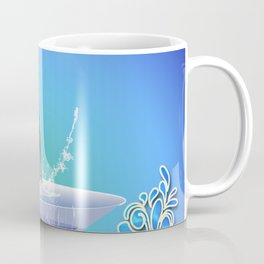 Dolphin jumping out of a glass Coffee Mug