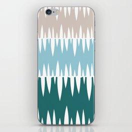 Accordian | blue + green iPhone Skin