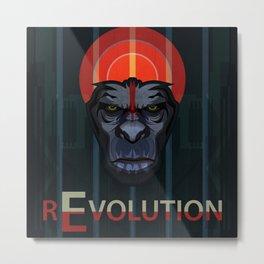 Dawn of the Apes Metal Print