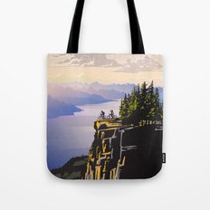 Retro travel BC poster Tote Bag