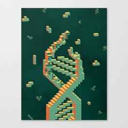 Programmable Matter (Tetris DNA) Canvas Print