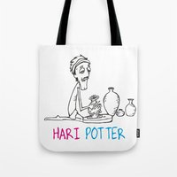 potter Tote Bags featuring Hari Potter by tantra