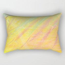 Abstract sunset - yellow, orange and blue - Rectangular Pillow