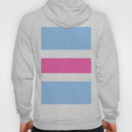 Horizontal stripes I Pink and blue Hoody