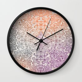 lace burst Wall Clock