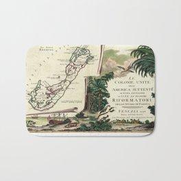 Vintage Map of Bermuda (1778) Bath Mat