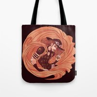 jjba Tote Bags featuring spin by vvisti