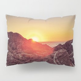Peel Sunset  - line/circle graphic Pillow Sham