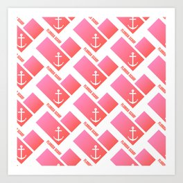 Florida Scarf Fat Pink Logo Art Print