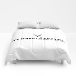 Simple Logo Black Comforters