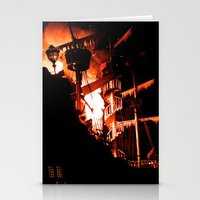 pirate ship Stationery Cards featuring Pirate Ship Explosion by CrystalKennedy