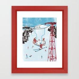 Ski Lift Framed Art Print