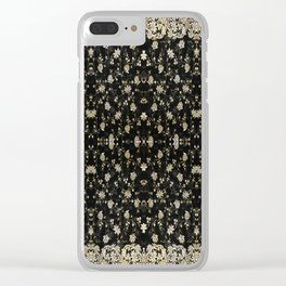 Midnight Romance Sari Clear iPhone Case