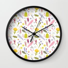 Australian Botanical Wall Clock