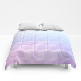 Pastel Cube Pattern Ombre 1 - pink, blue and vi Comforters
