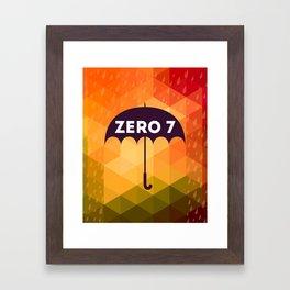 Zero 7 Poster - Sia Furler Mozez Jose Gonzalez Umbrella Print Rain Framed Art Print