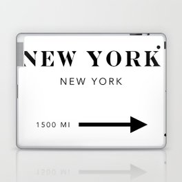 New York New York City Miles Arrow Laptop & iPad Skin