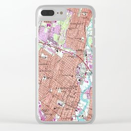 Vintage Map of Hackensack NJ (1955) Clear iPhone Case