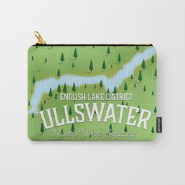 Ullswater lake district travel map poster. Carry-All Pouch
