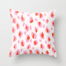 Pink Leopard Throw Pillow