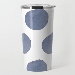 Watercolor chambray dots Travel Mug