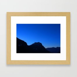 Dawn at Glacier National Park, Rocky Mountains, Going to the Sun Road, Logan Pass Framed Art Print