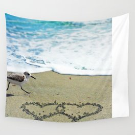 Beach Love Wall Tapestry