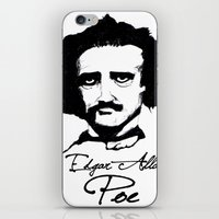 edgar allan poe iPhone & iPod Skins featuring Edgar Allan Poe  by SINPE
