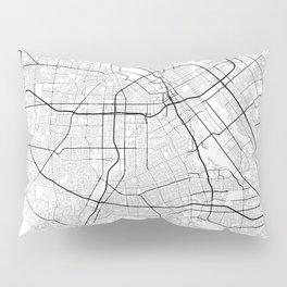 Minimal City Maps - Map Of San Jose, California, United States Pillow Sham