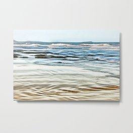 Abstract waves on the beach Metal Print