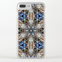 River Birch bark with blue sky kaleidoscope Clear iPhone Case