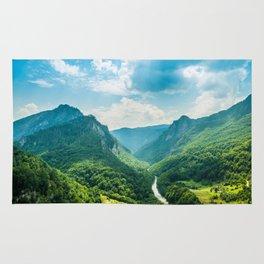 Landscape - Green Mountains  Rug