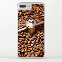 Freshly roasted coffee beans Clear iPhone Case