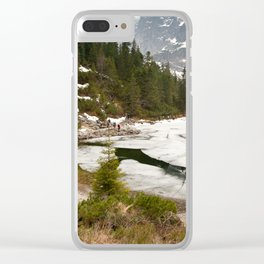 Tourists trek around Morskie Oko Lake Clear iPhone Case