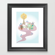 picnic day Framed Art Print