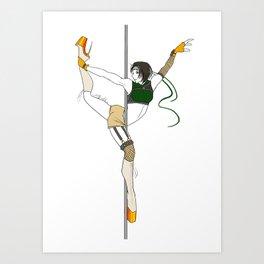 FFVII Pole Series: Yuffie Kisaragi Art Print