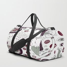 The Bird Lady Cometh Duffle Bag