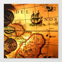 map sea Canvas Print