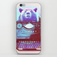 writer iPhone & iPod Skins featuring Grizzly writer by RedGoat