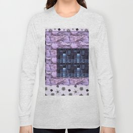 texture for interior decoration purple Long Sleeve T-shirt