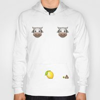 milk Hoodies featuring Milk Milk Lemonade Emoji by sabsurd