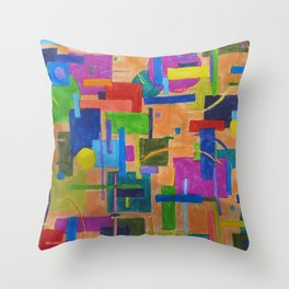 RainbowDoodles Throw Pillow