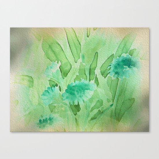 Elegant Soft Watercolor Floral  Canvas Print
