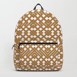 Golden Crochet Backpack