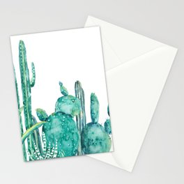 green cactus jungle watercolor Stationery Cards